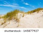 Green Grass Sand Dune Desert...