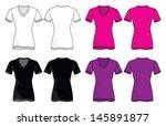 vneck shirt vector template