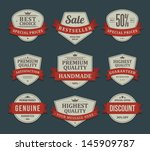 vintage labels or badges and... | Shutterstock .eps vector #145909787