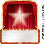vector stage with star and... | Shutterstock .eps vector #145921487