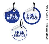 free service stickers and tags. ... | Shutterstock .eps vector #145935437