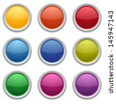 colorful round buttons | Shutterstock .eps vector #145947143