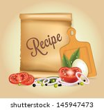 recipes banner | Shutterstock .eps vector #145947473