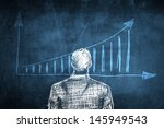 sketch successful businessman... | Shutterstock . vector #145949543