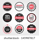 set of retro vintage badges and ... | Shutterstock .eps vector #145987817