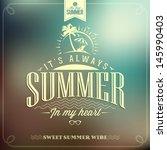it's always summer typography... | Shutterstock .eps vector #145990403