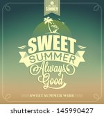 sweet summer typography... | Shutterstock .eps vector #145990427