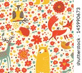 animal,art,background,bear,bird,butterfly,camp,cartoon,child,childish,collection,color,cute,deer,design