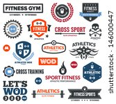 set of various sports and... | Shutterstock . vector #146000447