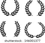 laurel wreaths set vector... | Shutterstock .eps vector #146001377