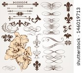 vector set of calligraphic... | Shutterstock .eps vector #146019713