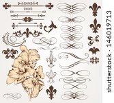 vector set of calligraphic... | Shutterstock .eps vector #146019713