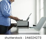 side view midsection of a... | Shutterstock . vector #146024273