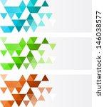 geometric banner | Shutterstock .eps vector #146038577
