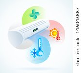 air conditioners cool fun... | Shutterstock .eps vector #146046887