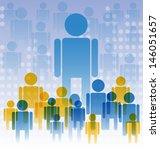 vector illustration of business ... | Shutterstock .eps vector #146051657