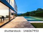 Modern Villa With Pool  Night...