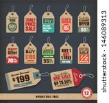 unique sale tags | Shutterstock .eps vector #146089313