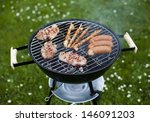 grilling at summer weekend  | Shutterstock . vector #146091203