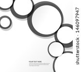 simple circles background | Shutterstock .eps vector #146097947