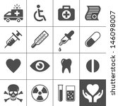 medical and health icon set.... | Shutterstock .eps vector #146098007