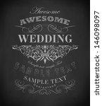 chalk  typography  calligraphic ... | Shutterstock .eps vector #146098097