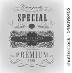 retro typography  calligraphic... | Shutterstock .eps vector #146098403