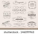 retro calligraphic design... | Shutterstock .eps vector #146099963