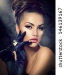 beauty fashion glamour girl... | Shutterstock . vector #146139167