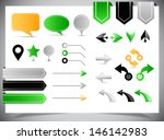 collection of arrows  markers... | Shutterstock .eps vector #146142983