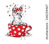 Cute Puppy In The Tea Cup