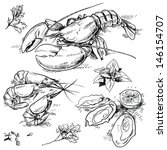 animal,claws,collection,crab,dill,dinner,doodle,drawing,eating,exotic food,food,food illustrations,food ingredients,food menu,fruit