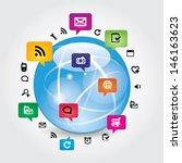 social network | Shutterstock .eps vector #146163623