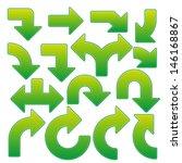 big green arrow collection | Shutterstock .eps vector #146168867