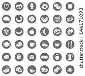 36 eggs bread fruit vegetables... | Shutterstock .eps vector #146171093