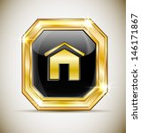 the button in the gold frame.... | Shutterstock .eps vector #146171867