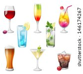8 highly detailed cocktails... | Shutterstock .eps vector #146174267