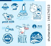 set of labels and icons for... | Shutterstock .eps vector #146174513