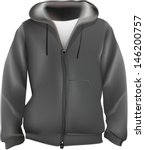 sweat shirt with hood.mesh used ... | Shutterstock .eps vector #146200757