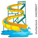 image with aquapark theme 2  ... | Shutterstock .eps vector #146208047