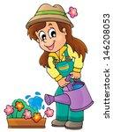 image with gardener theme 1  ... | Shutterstock .eps vector #146208053