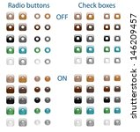set of glossy web radio buttons ... | Shutterstock .eps vector #146209457