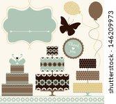 vector set of celebration or... | Shutterstock .eps vector #146209973