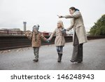 mother points out something in... | Shutterstock . vector #146248943