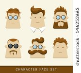 Men Character Icons. Vector...