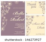 wedding or invitation card.... | Shutterstock .eps vector #146273927