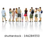 set of people silhouettes.... | Shutterstock .eps vector #146284553