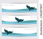 whale banners   vector...   Shutterstock .eps vector #146287847