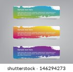 set of three colorful vector... | Shutterstock .eps vector #146294273