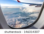 clouds and sky as seen through... | Shutterstock . vector #146314307